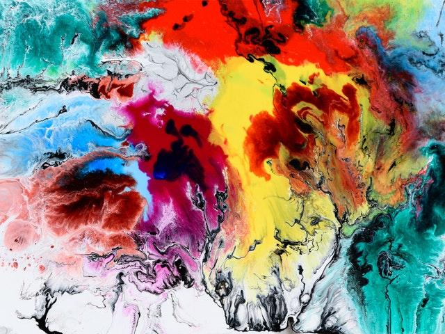 Et fargerikt maleri.